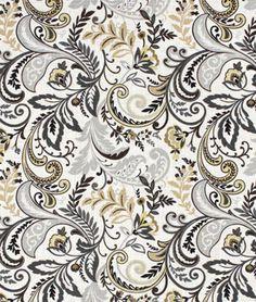 Swavelle / Mill Creek Findlay Charcoal Fabric - $21.3   onlinefabricstore.net