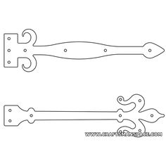 Door hinge plate patterns 3