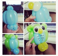 Really cute owl ballon sculpture!