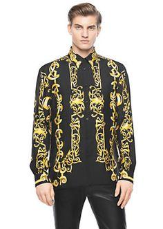 gianni versace silk shirts men silk shirt in gold for men randoms pinterest silk shirts. Black Bedroom Furniture Sets. Home Design Ideas