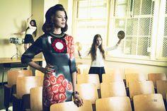 """Hey, Teacher, Leave Those Kids Alone"" - Editorial Elle México Abril/2013 - Blog - As Escolhidas"