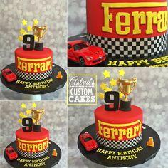 Ferrari Race Car Cake by Astrid's Custom Cakes