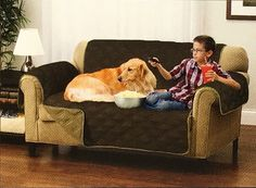 Suede Microfiber Reversible Sofa Protection Cover 75 X 88 Inch Light Dark Brown