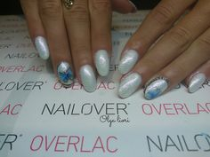 White nails butterfly