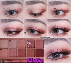 Korean Makeup Tips, Asian Eye Makeup, Korean Makeup Tutorials, Eye Makeup Steps, Natural Eye Makeup, Eyeshadow Tutorials, Natural Beauty, Make Up Tutorial Contouring, Makeup Tutorial Eyeliner