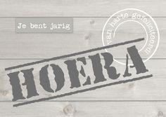 Design Birthday Card / Verjaardagskaart by Fientje en Co www.kaartje2go.nl