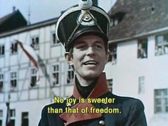 Horst Caspar playing the Prussian war hero Lieutenant-Colonel August Neidhardt von Gneisenau in the film 'Kolberg' which was produced and directed by the Reich's leading propaganda director Veit Harlan. The movie depicted the legendary defense of Kolberg from French troops in 1807 by von Gneisenau during the Napoleonic Wars. It was one of the most state-of-the-art film productions ever made at the time, using full color cameras and running at a budget of over 8 million Reichsmarks.
