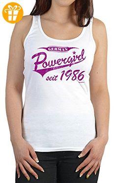 Damen TankTop ::: Powergirl seit 1986 ::: zum Geburtstag (*Partner