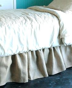 Burlap Bed Skirt So Doing This Must Make Pinterest
