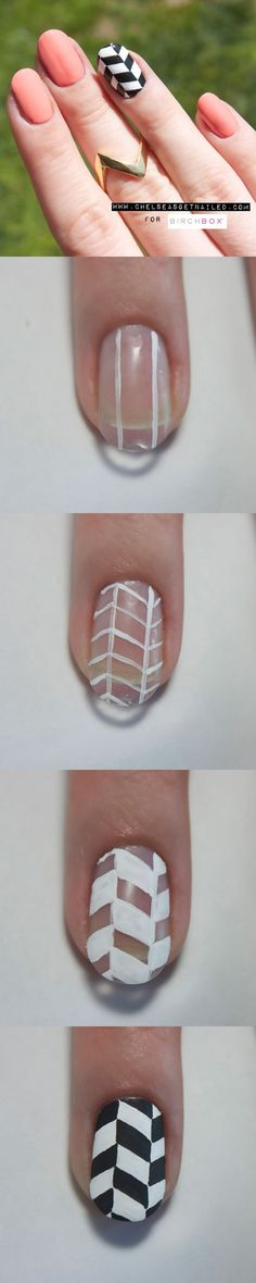 How To: Chevron Nail Art by nicolson.araya