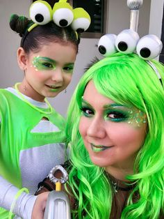 Mommy and me halloween alien costume