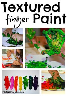Homemade Textured Finger Paints