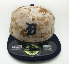 ddb926e867f DETROIT TIGERS DIGITAL CAMO NEW ERA 59FIFTY FITTED HAT CAP (7 3 8) -- NEW   59FIFTY  DetroitTigers