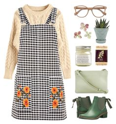"""Those green eyes"" by aby-ocampo ❤ liked on Polyvore featuring Topshop, CÉLINE, Bernardo, Brooklyn Candle Studio, Java, Chive and EyeBuyDirect.com"