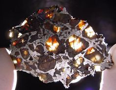 The Hambleton pallasite : A mass was found beside a forest track by R. and I. Elliott while they were hunting for meteorites, ~2 km south of Hambleton, North Yorkshire, England. (2005)