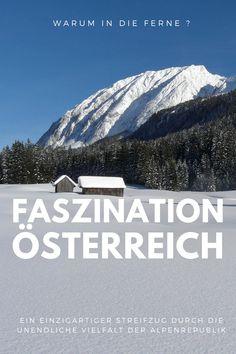Ein einzigartiger Streifzug durch die Alpenrepublik -  vom Neusiedlersee bis zum Bodensee -  vom Mühlviertel bis zur südsteirischen Weinstraße,  vom Wörthersee bis nach Wien, von der Donau zum Großglocknergipfel.  Österreich - das ist Vielfalt pur Mountains, Nature, Travel, Far Away, Train, Alps, Unique, Destinations, Viajes