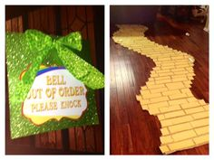 A yellow brick road table runner would be cute! Love the sign too. Birthday Cards For Girlfriend, Girl Birthday Cards, Birthday Table, Birthday Games, Birthday Greetings, Birthday Parties, Happy Birthday, Bowling Party Favors, Wizard Of Oz Decor