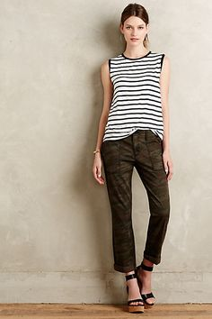cfde854e50f2 Quinby Camo Pants  anthropologie Animal Print Pants, Military Pants,  Leopard Pants, Polka