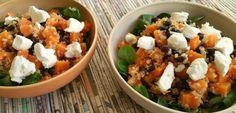 Zwarte bonensalade met wortel, quinoa en geitenkaas