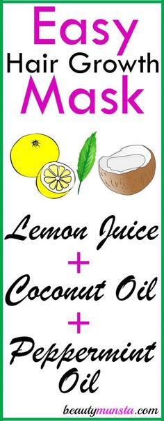 Lemon Juice and Coconut Oil for Hair Growth, Dandruff Control & More! - beautymunsta - free natural beauty hacks and more!