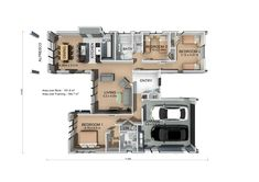 This plan offers sophisticated style and spacious rooms to accommodate families or those looking to entertain guests. #3bedroomhome #karapiroplan #pavilionrange #generationhomesnz Bedroom House Plans, House Interiors, Sophisticated Style, Pavilion, Families, New Homes, Floor Plans, Layout, Rooms