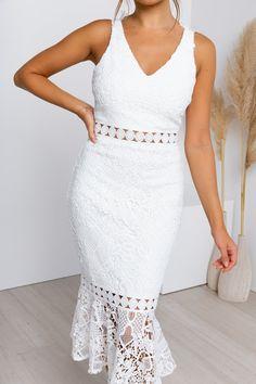 Blair Dress - White Sisters The Label, Blair Dress, Semi Formal Dresses, Womens Fashion Stores, Online Fashion Boutique, Strapless Dress, White Dress, Bridesmaid, Bridal