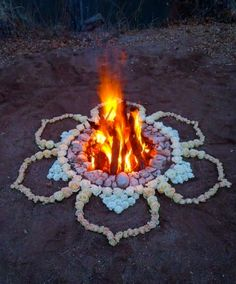 Garden Design For Kids Guide to Magical Paths : Summer solstice rituals midsummer fire.Garden Design For Kids Guide to Magical Paths : Summer solstice rituals midsummer fire Mandala Art, Lotus Mandala, Mandala Design, Summer Solstice Ritual, Winter Solstice, Beltane, Land Art, Into The Fire, Bohemian House