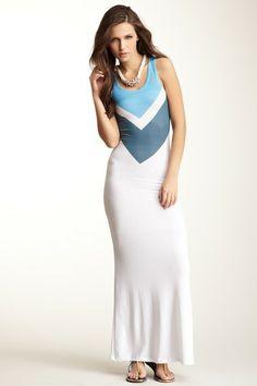 Scoop Neck Sleeveless Print Maxi Dress on HauteLook