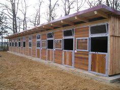 Nice row of horse stables.