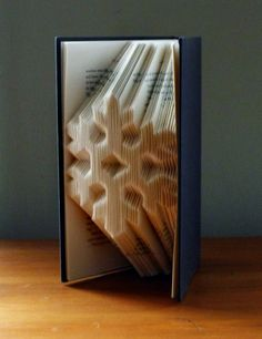 Snowflake  Folded  Book Art  Christmas by LucianaFrigerio on Etsy, $85.00
