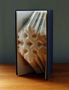Snowflake Folded Book Art Christmas by LucianaFrigerio on Etsy, $85.00 - inspiration