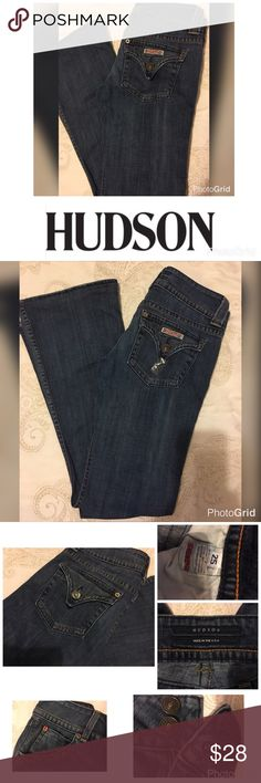 HUdson Jeans 👖Size 25=0 Faded & Whiskered Hudson Jeans 👖 Size 25=0 True to Size 👖Faded and Wiskered Hudson Jeans Jeans