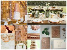 Hochzeit im Freien - Deko in Kupfer Farbe