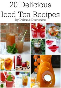 20 delicious iced tea recipes [ MyGourmetCafe.com ] #Tea #gourmet #culinary