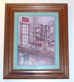 "Framed Print by Kay Lamb Shannon - Country Store - Coca Cola, 14 1/2"" x 17 1/2"""