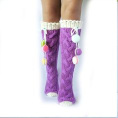 Knee docks with macarons. Socks with sweets. Candy от mymomsshop1