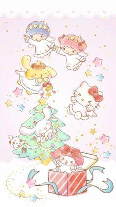 (notitle) - Diverse by sanrio - My Melody Wallpaper, Xmas Wallpaper, Sanrio Wallpaper, Hello Kitty Wallpaper, Kawaii Wallpaper, Wallpaper Stickers, Hello Kitty Christmas, Hello Kitty Birthday, Arte Do Kawaii