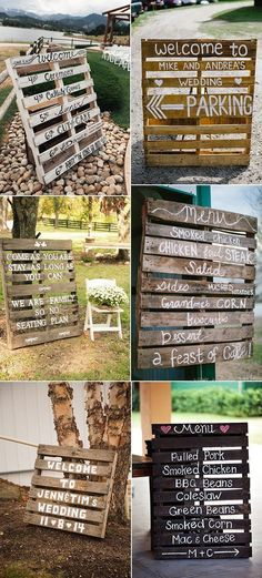 Country wedding theme is more and more popular. It's a good idea to save some budget and do beautiful wedding decorations by your hands. They could be created with the groom and it will be yours first project as a couple. Here we're having these brilliant country wedding inspiration with wood pallets. Wedding Signs TheRead more #woodpalletsandsigns