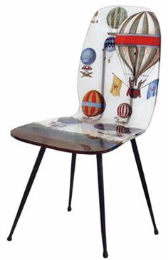 Balloons chair by Fornasetti Funky Furniture, Painted Furniture, Furniture Design, Piero Fornasetti, Interior Decorating, Interior Design, Take A Seat, Ottoman, Armchair