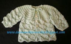Das Mãos da Teresinha: Casaco de tricô para bebé (tam.3 -6 meses) com PAP