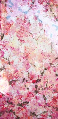 """""""Cherry Blossom Wallpaper"""" by Maggie O'Neill  It would be nice to have this as an accent wall"""