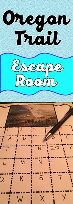 The Oregon Trail Escape Room will take students on a secret mission around the classroom! This escape room has students decode interesting facts about the Oregon Trail, Manifest Destiny and Westward Expansion. Sometimes students just need a day of movemen 3rd Grade Social Studies, Social Studies Classroom, Social Studies Activities, History Activities, History Classroom, Teaching Social Studies, History Teachers, Teaching History, Classroom Activities