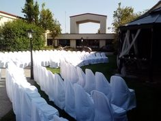 A 200 person wedding ceremony on our courtyard Color Palate, Neutral Tones, Event Venues, Fundraising, Special Events, Wedding Ceremony, Life, Decor, Decoration