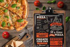 Pizza Food Menu Template - Brochures