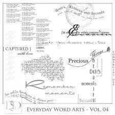 Everyday Word Arts Vol 04 by D's Design  #CUdigitals cudigitals.com cu commercial digital scrap #digiscrap scrapbook graphics
