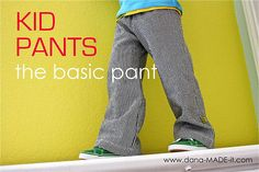 Basic kids pant tutorial from MADE