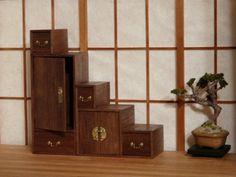 Japanese furniture , miniature  1:12,  by Marja Keuker
