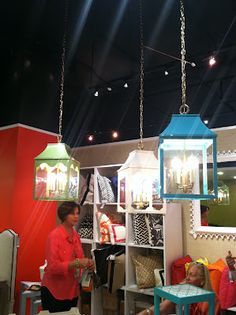 colorful lanterns from oomph, as seen at #hpmkt