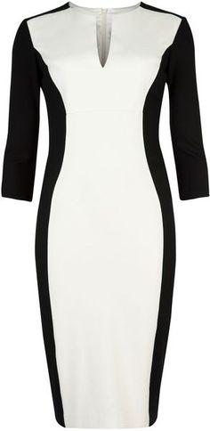 Ted Baker London Ristle Contrast Side Dress - Lyst