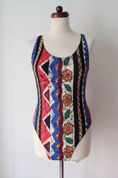 Vintage Swimsuit  Navajo Print Swimsuit  von PaperdollVintageShop, €19.90